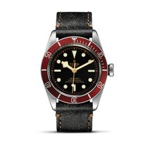 Tudor HERITAGE BLACK BAY Red Bezel Automatic Aged Leather 79230 R