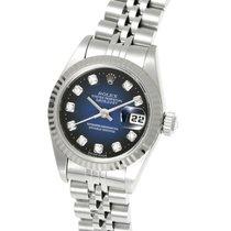 ロレックス (Rolex) Datejust Blue Dial Diamond Steel White Gold 26MM...