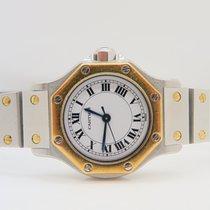 Cartier Santos Octagon 18k Gold Steel 24mm Automatic