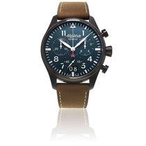 Alpina Pilot Chronograph Big Date Black AL-372N4FBS6