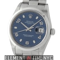 Rolex Oyster Perpetual Stainless Steel Blue Dial Y Serial 34mm...