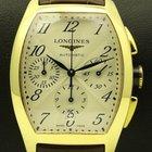 Longines Evidenza Chronograph, 18 kt yellow gold, full set