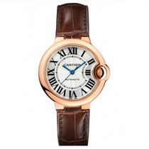 Cartier Ballon Bleu 33mm Rose Gold Watch on Leather Strap