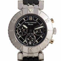 Harry Winston Ocean Chronograph Platinum Rubber Bracelet