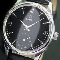 Omega Winding Side Second Black Dial Steel Mens Watch Ref. 2384-5
