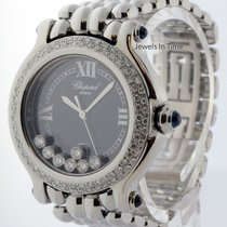Chopard Happy Sport Ladies Steel Diamond & Sapphire Quartz...