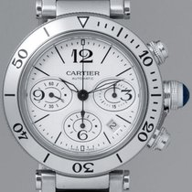 Cartier Pasha Seatimer AUTO CHRONO DATE MEN Steel B&P...