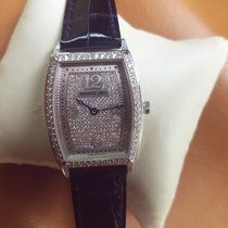 Breguet 18K  W/GOLD LADIES HERITAGE WATCH DIAMOND  PAVE DIAL