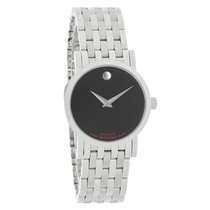 Movado Red Label Ladies Black Dial Swiss Automatic Watch 0606107
