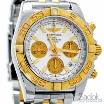 Breitling Chronomat 41 Chronograph Two Tone Red Gold Steel...