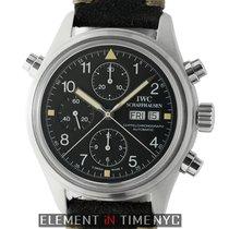 IWC Pilot Collection Pilot Doppel Chronograph Steel 42mm Black...