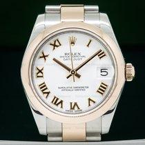 Rolex 178241 Ladies Midsize Rolex Datejust White Roman SS /...