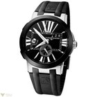 Ulysse Nardin Executive Dual Time Black Dial Black Strap Men`s...