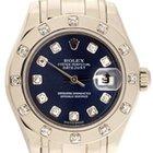Rolex Ladies Rolex Masterpiece/Pearlmaster Watch 80319 Blue Dial