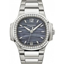 Patek Philippe 7018/1A-010 Nautilus Ladies 33.6mm Blue Mother...