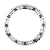 Rolex GMT-Master II White Gold Baguette Cut Custom Bezel