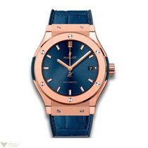 Hublot Classic Fusion Automatic 18K King Gold Leather Ladies...