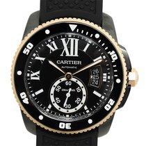 Cartier Caliber De Cartier 18k Rose Gold And Steel Black...
