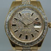 Rolex DAY DATE  II YELLOW GOLD/SETTING BAGUETTE DIAMONDS
