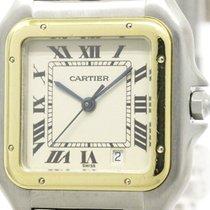 Cartier Polished Cartier Panthere 18k Gold Steel Quartz Mid...