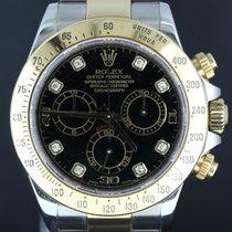 Rolex Daytona Gold/Steel,Black Diamond Dial 40MM (Z-Series)