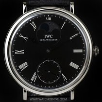 IWC S/Steel Black Dial Portofino Moonphase Gents IW544801
