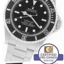 Rolex Submariner 4-Line No-Date 14060 M Stainless Black Watch
