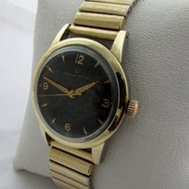 Eterna-Matic Gold / steel with rare black dial in good working...