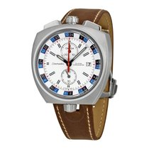 Omega Seamaster Bullhead Co-Axial White Dial Brown Leather...