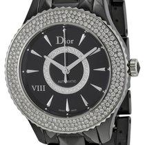Dior VIII Black Dial Ceramic Ladies Watch
