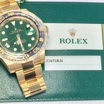 Rolex Gmt-Master 18k Green Dial ref.  116718LN