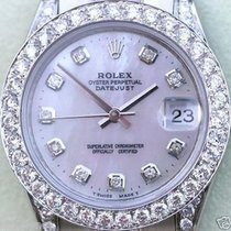 Rolex Ladies Midsize President 18k Gold Diamond Band Diamonds...