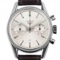 Heuer Carrera Chronograph Stahl Handaufzug Valjoux 92 Armband...