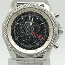 Breitling For Bentley B04 Gmt Stainless Steel Black Lace Dial...
