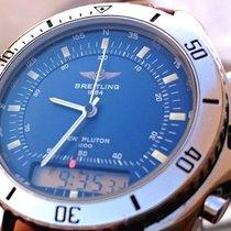 Breitling New Pluton 3100 A51037 Diver 200M Pilot Chronograph...