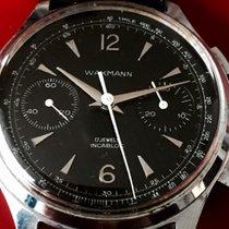 Wakmann fine black dial chronograph shadydale star