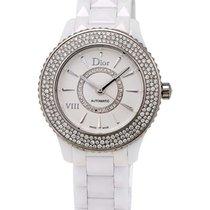 Dior VIII White Ceramic and Stainless Steel Diamond Ladies...