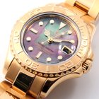 Rolex 18K Gold 29mm Ladies Yachtmaster Factory Tahitian MOP