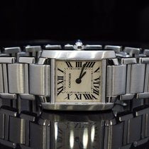 Cartier Ladies Tank Francaise, Steel, Boxed