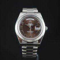 Rolex BEST Price RARE Day Date II White Gold  Brown Dial 218239