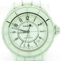Chanel J12 Ref. Ho970 White Ceramic 38mm Automatic Watch With...