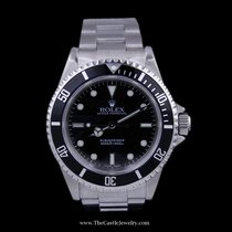 Rolex Submariner Black Dial and Black Bezel All Stainless...