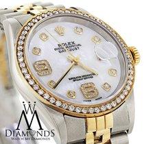 Rolex Men's Rolex Datejust Two Tone 36mm Diamond Bezel...