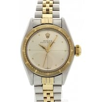 Rolex Ladies Rolex Oyster Perpetual 18K Yellow Gold &...