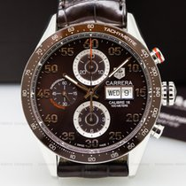 TAG Heuer CV2A1S-FC6236 Carrera Day Date Chronograph SS Brown...