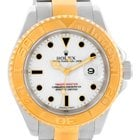 Rolex Yachtmaster Stainless Steel 18k Yellow Gold Mens Watch...