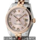 Rolex Datejust Steel & Rose Gold 31mm Pink Roman Dial Ref....