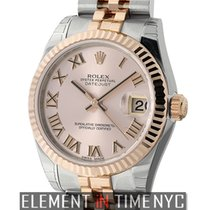 Rolex Datejust Steel & Rose Gold 31mm Pink Roman Dial Ref....