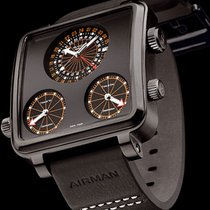 Glycine Airman 7 Plaza Mayor Titatium Black DLC