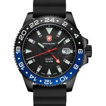Swiss Military Gmt Nero Scuba Swiss Watch Pvd Case 2nd T/zone...